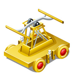 table souvenir in the form of draisine or handcar vector image
