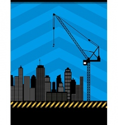 urban construction illustration vector image
