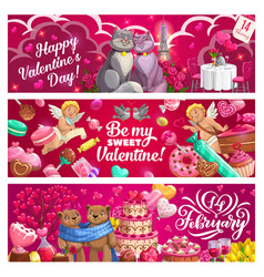 valentines day hearts love holiday gifts cupids vector image