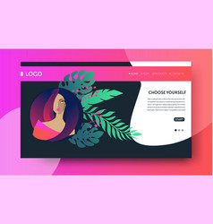 web page design templates for beauty spa vector image