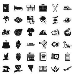 wind icons set simple style vector image