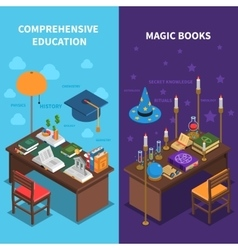 Books And Education Banners Set vector image