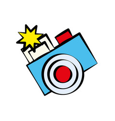 cartoon photo camera image vector image vector image