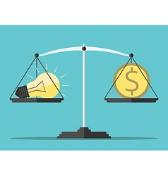 Idea money and scales vector image