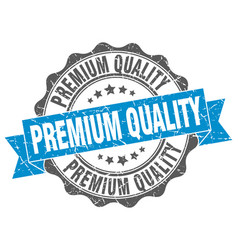 Premium quality stamp sign seal vector