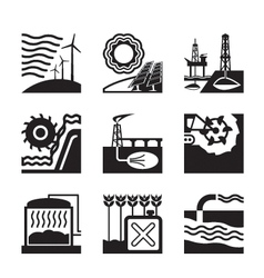 Energy sources from nature vector image vector image