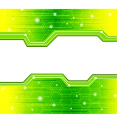 glowing elements vector image vector image