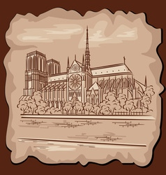 Notre Dam in Paris vector image