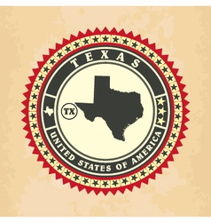 Vintage label-sticker cards of Texas vector image vector image