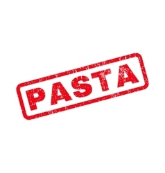 Pasta Rubber Stamp vector image vector image