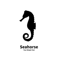 silhouette of a sea horse vector image vector image