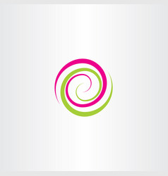 swirl spiral tech logo wave icon design element vector image