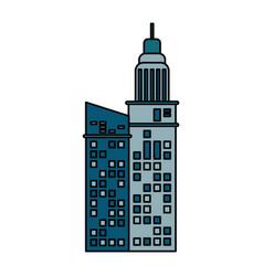 building architecture hotel skyscraper vector image vector image