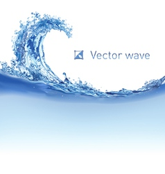 Cool water wave vector image vector image