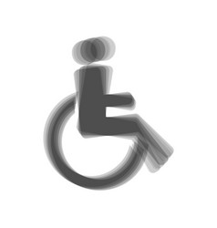 disabled sign gray icon vector image vector image