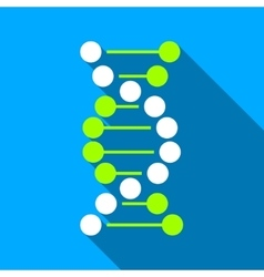 DNA Flat Long Shadow Square Icon vector image vector image