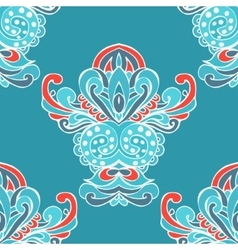 ethnic Damask flower seamless pattern background vector image vector image