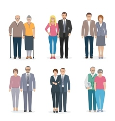 Family Couple Icons Flat vector image vector image