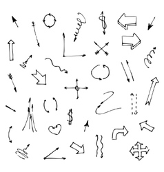 Set of various graphic arrows on a white vector image