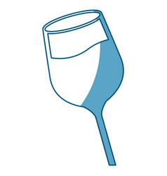 wine glass cup liquid shadow vector image