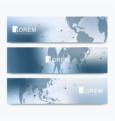 abstract set of modern website banners vector image