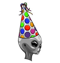 Alien head grey design art vector