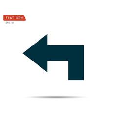 arrow icon graphic recycling logo vector image