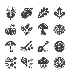 autumn icon vector image