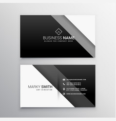 black and white minimal business card vector image