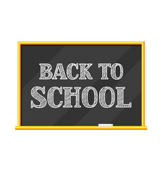 Blackboard back to school lettering vector