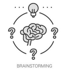 Brainstorming line infographic vector