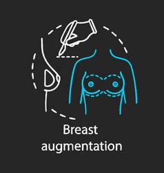 Breast augmentation chalk icon vector