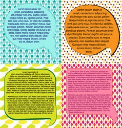 brochure design templates collectionspeach bubble vector image