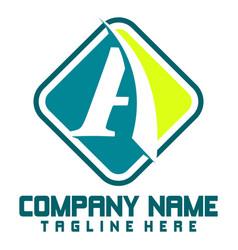 business corporate letter a logo design vector image