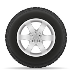 car wheel 01 vector image