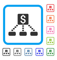 cashout scheme framed icon vector image