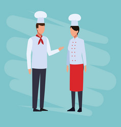 chefs job and workers vector image