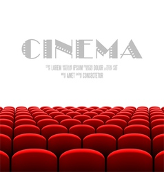 Cinema auditorium with white screen vector