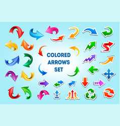 colorful arrows in different styles vector image