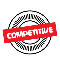 Competitive stamp on white background vector