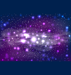 dark star space bokeh light background vector image