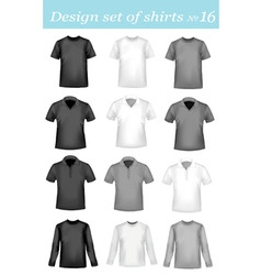 design shirt set 16 vector image