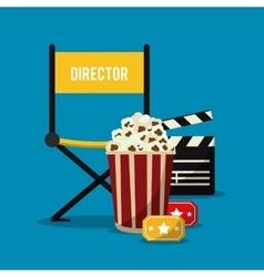 Director chair movie film cinema icon vector