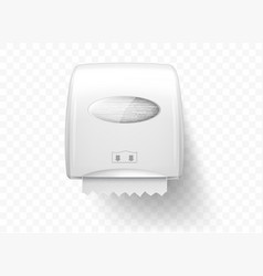 Dispensers for paper towels realistic isolated vector