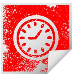 distressed square peeling sticker symbol wall vector image