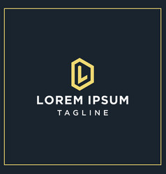 Dl or ld monogram logo vector