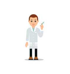 doctor and patient young physician stands and vector image