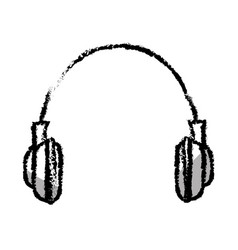 Earphones sound isolated icon vector