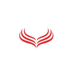 falcon eagle bird logo template vector image