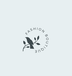 fashion boutique abstract sign symbol vector image